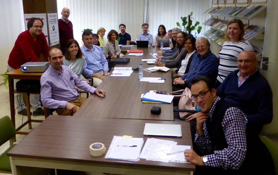 Participants in the CaLSol meeting held in Madrid