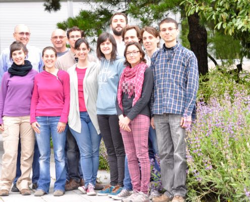 Prof. Purcell with the research team of Dr. Fereres at ICA-CSIC