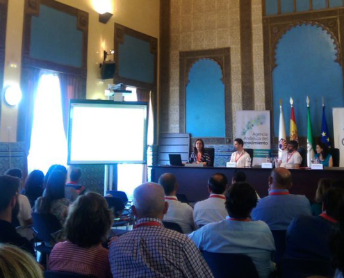 Dr. Landa (IAS-CSIC) presents POnTE Project at the Trafoon Training Workshop in Cordoba, Spain