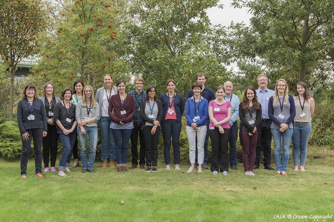 Delegates attending the training workshop on Xylella fastidiosa detection, held at SG-SASA facilities in Edinburgh, UK